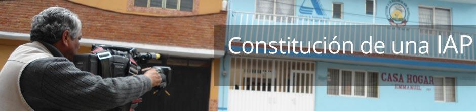 Constitución de una IAP